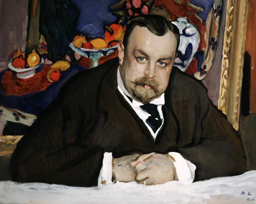 Valentin-Serov-Portrait-du-collectionneur-de-la-peinture-moderne-russe-et-francaise-Ivan-Abramovitch-Morozov-Moscou-1910