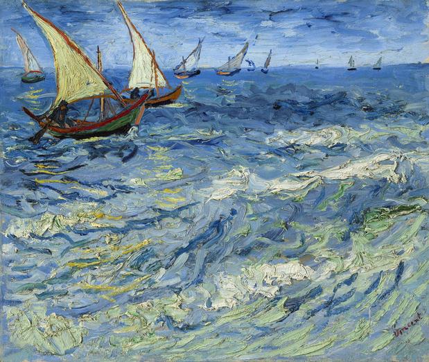 Vincent-van-Gogh-La-Mer-aux-Saintes-Maries-Saintes-Maries-de-la-Mer-1888