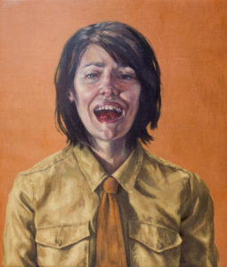 Laughing With My Mouth Full, 2012 Roxana Halls. Oil on linen